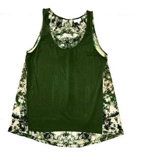 {Anthropologie} Deletta Green Sleeveless Blouse